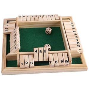 [リトルスワロー] シャット ザ ボックス ダイスゲーム ボードゲーム サイコロゲーム 脳トレ 数字 遊び 算数 学習 計算 パズル ゲーム|bluebird-shoji