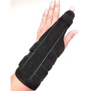 [TradeWind] 指サポーター 全指適応 指骨折 突き指 腱鞘炎 捻挫 脱臼 ばね指 関節炎 手首固定 金属プレート (黒 Mサイズ M) bluebird-shoji