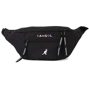 KANGOL BODY BAG カンゴール バッグ ボディバッグ ウエストバッグ KGSA-BG00093 ブラック (ブラック ワンサイズ)|bluebird-shoji