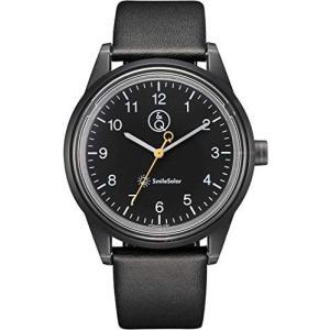 [シチズン Q&Q] 腕時計 アナログ スマイルソーラー リンクコーデ 防水 革ベルト RP20-004 メンズ ブラック(ブラック 40mm) bluebird-shoji