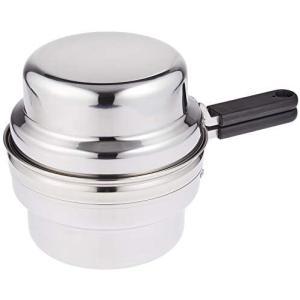 ステンレスオイルポット兼用ツイン天ぷら鍋 活性炭付 らく揚げポット(カートリッジ1個付) 22217 bluebird-shoji