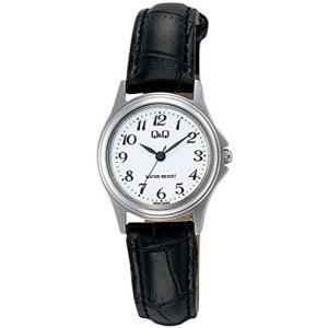 [シチズン Q&Q] 腕時計 アナログ ステンレスモデル 防水 革ベルト W379-304 レディース ホワイト (文字盤色-ホワイト) bluebird-shoji