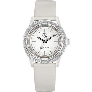 [シチズン Q&Q] 腕時計 アナログ スマイルソーラー スワロフスキー 防水 ウレタンベルト RP37-003 レディース (文字盤色-ホワイト) bluebird-shoji