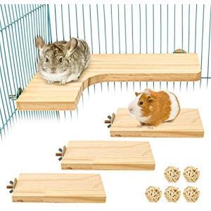 3点セット ペット用品 小動物 L字型 木製コーナーステージ ハムスターのステップ 踏み台 シマリス モモンガ チンチラ チビトトロ (H01)|bluebird-shoji