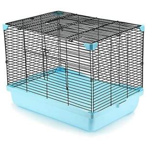 YOKITOMO 小動物ケージ デグー ケージ お掃除しやすい 通気 持ち運びやすい モルモット うさぎ ハムスター (ブルー色)|bluebird-shoji
