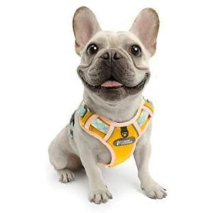 TUFF HOUNDハーネス メッシュ素材 通気性一番 軽量 小型犬 中型犬 大型犬 胴輪 調節可能 散歩用 (イエロー M)|bluebird-shoji
