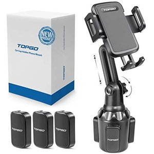 カーカップホルダー 携帯電話マウント調整可能ポール 自動車カップホルダー スマートフォンクレードル カーマウント (黒 11 inch)|bluebird-shoji