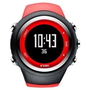 ランニングウォッチ GPS 腕時計 デジタル ウォッチ 防水 軽量 Bluetooth搭載 歩数計 EZONT031 (レッド)|bluebird-shoji
