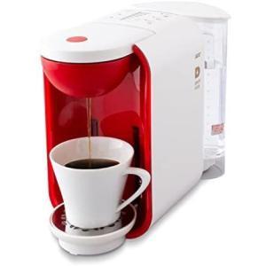 UCC コーヒーメーカー [ドリップポッド] 本格 ドリップコーヒー カプセル式 (ホワイト×レッド) (ホワイトxレッド 5-6カップ) bluebird-shoji