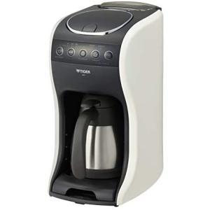 タイガー コーヒーメーカー 1〜4杯用 深蒸しドリップ 真空 ステンレス サーバー クリームホワイト (クリームホワイト 1~4杯用) bluebird-shoji