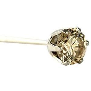 DIAMOND WORLD レディース ジュエリー PT900 ダイヤモンドピアス 0.15ctライトブラウンカラー ダイヤ使用 6本爪タイプ|bluebird-shoji