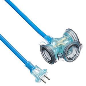 ハタヤ(HATAYA) 屋外用防雨型FX延長コード 10m 2P3個口コンセント ブルー FX-103(B) (ブルー 10) bluebird-shoji