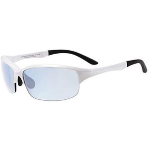 スクエア型サングラス|Zoff ゾフ 偏光レンズ搭載 スポーツ用 アウトドア 紫外線対策 UV対策 めがね おしゃれ レディース メンズ(ホワイト)|bluebird-shoji