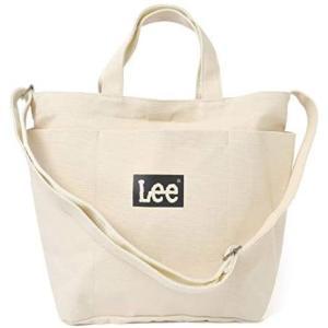 [リー] Lee ショルダーバッグ レディース 斜めがけ 大人 トートバッグ キャンバス a4 2way 16L キャンパス メンズ(オフホワイト)|bluebird-shoji