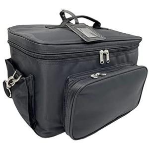 ネイルバッグ メイク収納バッグバニティーバッグコスメ収納バッグ大容量出張バックネイリストバッグ 携帯便利なツアーバニティーバッグ (ブラック)|bluebird-shoji