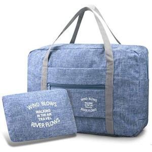 ALion-otsキャリーオンバッグ 折りたたみ キャリーオンバッグ ショッピングバッグ ボストンバッグ 折りたたみ バッグ 衣装バッグ (ブルー)|bluebird-shoji