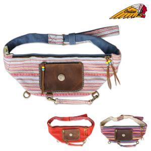 インディアンワンショルダーバッグ。 ワイドタイプで普段使いなら充分な容量。 肩から提げて、バッグがズ...