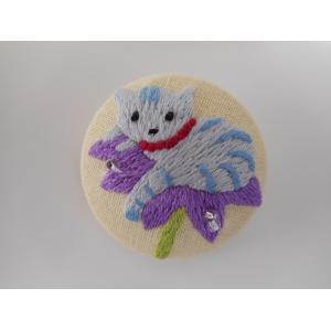 品番:Beyond-1026001 刺繍ブローチ フェアリーCat / ベトナム刺繍|bluebonnet-aoyama