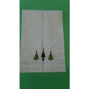 品番:CF-71136-119   クリスマス柄 ゲストタオル / 3本ツリー刺繍柄|bluebonnet-aoyama