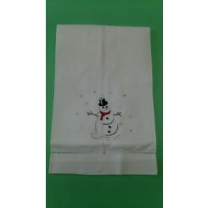 品番:CF-71136-135  クリスマス柄 ゲストタオル / スンーマン刺繍柄|bluebonnet-aoyama