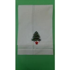 品番:CF-71136-88  クリスマス柄 ゲストタオル / クリスマスツリー刺繍柄|bluebonnet-aoyama