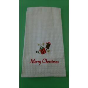 品番:CF-86100-050  クリスマス柄 キッチンタオル / メリークリスマス|bluebonnet-aoyama