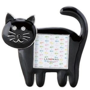 品番:EK917-15  ネコミニフレーム ブラック / 猫の写真立て|bluebonnet-aoyama