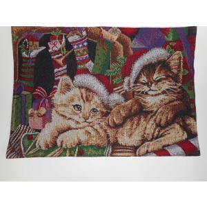 品番:Good-2587   クリスマス柄 ランチョンマット / ねこ ゴブラン織り 2枚セット|bluebonnet-aoyama