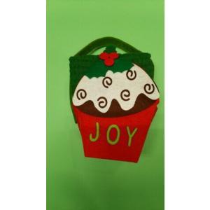 品番:Kay-H0603-C  クリスマス柄 かわいいBox入りキッチンタオル3枚セット / カップケーキ柄|bluebonnet-aoyama