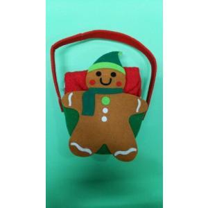 品番:Kay-H0603-G  クリスマス柄 かわいいBox入りキッチンタオル3枚セット / ジンジャーマン柄|bluebonnet-aoyama