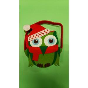 品番:Kay-H0603-O  クリスマス柄 かわいいBox入りキッチンタオル3枚セット / フクロウ柄|bluebonnet-aoyama