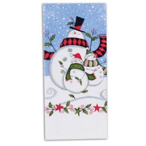 品番:Kay-H5200  クリスマス柄 キッチンタオル / スノーマン柄|bluebonnet-aoyama