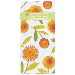 Kay-R2243 ケイディーデザイン Kay Dee Design キッチンタオル Flour SackTowel コットン100%  Yellow Floral  柄|bluebonnet-aoyama