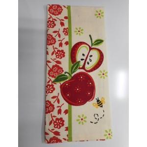 Kay-R6198 ケイディーデザイン Kay Dee Design キッチンタオル Tea Towel  コットン100%  An Apple a Day  柄|bluebonnet-aoyama
