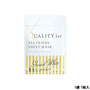 定形外は送料296円から  クオリティファースト オールインワンシートマスク グランホワイト 1袋 ...