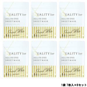 クオリティファースト オールインワンシートマスク グランホワイト 1袋 7枚入 ×6セット [ LQ...