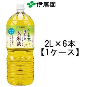伊藤園お〜いお茶 抹茶入り玄米茶 2Lペットボトル×6本 (おーいお茶 玄米茶 清涼飲料水)|bluechips
