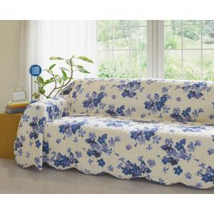 マルチカバー キルトマルチカバー 水洗いキルト ベッドカバー ソファカバー、ホットカーペットカバー 花柄 lylic 190x190cm|bluedoxy