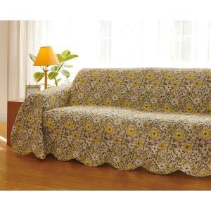 マルチカバー キルトマルチカバー 水洗いキルト ベッドカバー、ソファカバー、ホットカーペットカバー 花柄   tart 190x190cm|bluedoxy