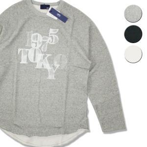 Tシャツ 長袖 メンズ レディース ブランド スウェット 1975 TOKYO MESH PRINT ROUND SWEAT 3カラー セール|blueism-y