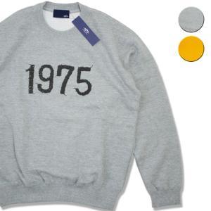 トレーナー メンズ ブランド スウェット メンズ レディース 1975 TOKYO EMBRO PRINT SWEAT 2カラー セール|blueism-y
