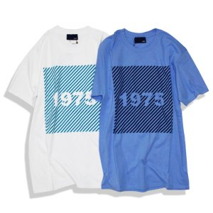 Tシャツ メンズ 半袖 ブランド おしゃれ サーフ レディース 1975 TOKYO SLANT STRIPE Tee 2カラー ユニセックス ボックスロゴ セール|blueism-y