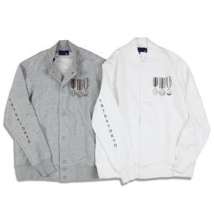 スウェットジャケット メンズ レディース 秋冬 ブランド 1975 TOKYO グレー ホワイト セール|blueism-y
