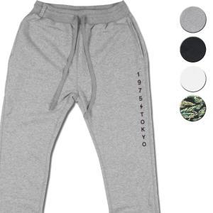 スウェットパンツ メンズ ブランド レディース 細 ポケット 1975 TOKYO グレー ブラック ホワイト 迷彩 セール|blueism-y
