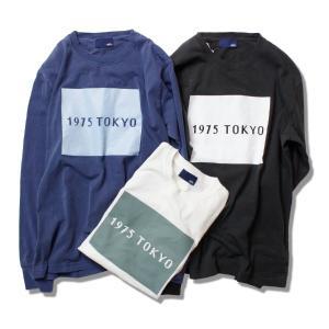 Tシャツ 長袖 メンズ レディース ブランド ロンT ロングTシャツ ボックスロゴ ロゴ サーフ 白 黒 紺 1975 TOKYO セール|blueism-y