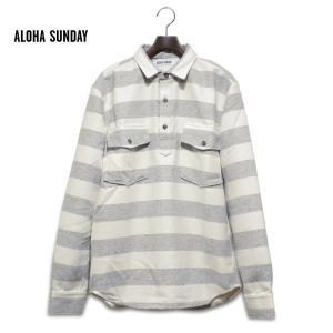 メンズ シャツ 長袖 アロハサンデー ALOHA SUNDAY サーフブランド サーファー 人気 ブランド サーフ|blueism-y