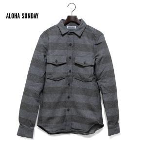 メンズ シャツ 長袖 アロハサンデー ALOHA SUNDAY サーフブランド サーファー 人気 ブランド サーフ ALOHASUNDAY|blueism-y