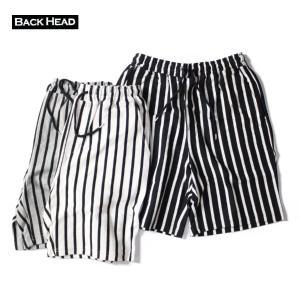 ショートパンツ メンズ ブランド 短め BACKHEAD ショーツ ボードショーツ ストライプショーツ ストライプ サーフ アメカジ blueism-y