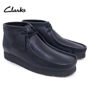 クラークス ワラビーブーツ メンズ Clarks WALLABEE BOOT BLACK LEATHER Mワイズ ブーツ レザー 靴 USA規格 OOO|blueism-y