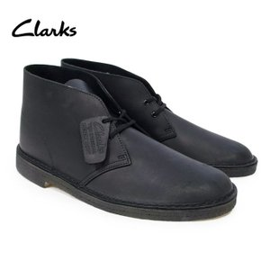 クラークス デザートブーツ メンズ DESERT BOOT BLACK LEATHER Mワイズ ブーツ スエードレザー チャッカ レザー ブラック USA規格 OOO|blueism-y